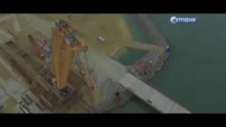 В Керченском проливе турецкое судно протаранило строящийся мост