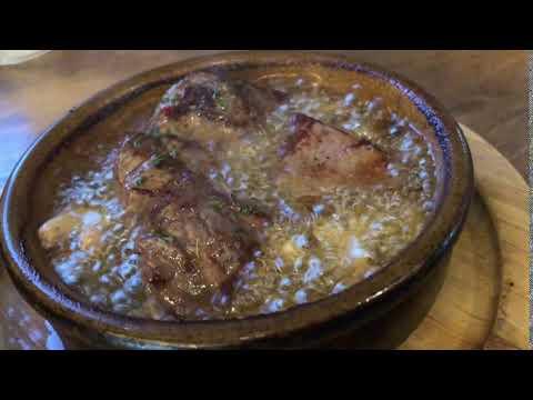 #ばるばる下北沢 4軒目 シモキタザワテラスPANESHOUSE『牛肉ステーキのアヒージョ』