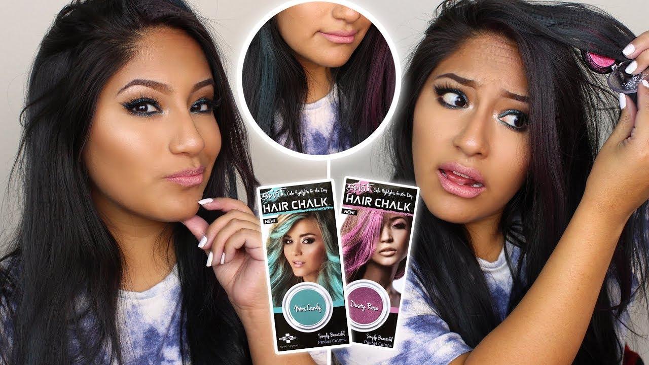 Does Splat Hair Chalk Work On Dark Hair Youtube