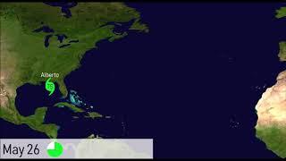 Animation of Tropical Storm Alberto (2018)