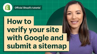 How to verify your site with Google and submit a sitemap || Shopify Help Center
