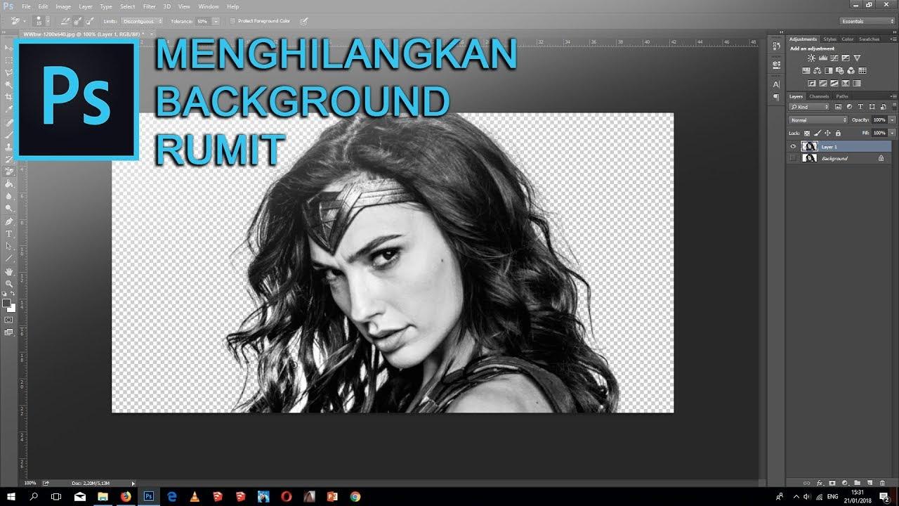 Tutorial Menghilangkan Background Rambut Rumit Di Photoshop