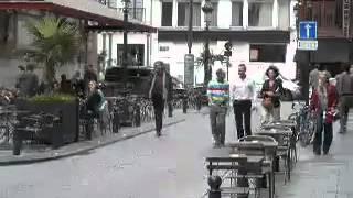 Жан Дюжарден в Брюсселе на съёмках фильма u0027Мёбиусu0027