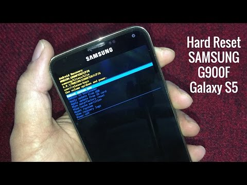 Hard Reset SAMSUNG S5 G900F