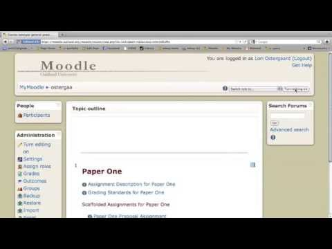 Creating a Peer Review in Moodle Forum