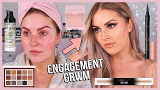 Rose Gold GRWM 💕 my ENGAGEMENT makeup! yay!