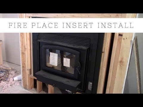 MONEY SAVER! How To Install A Fire Place Insert For Burning Wood