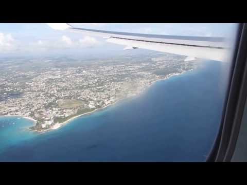 Landing at Barbados from Manchester 15 November 2014 First Choice 767 300