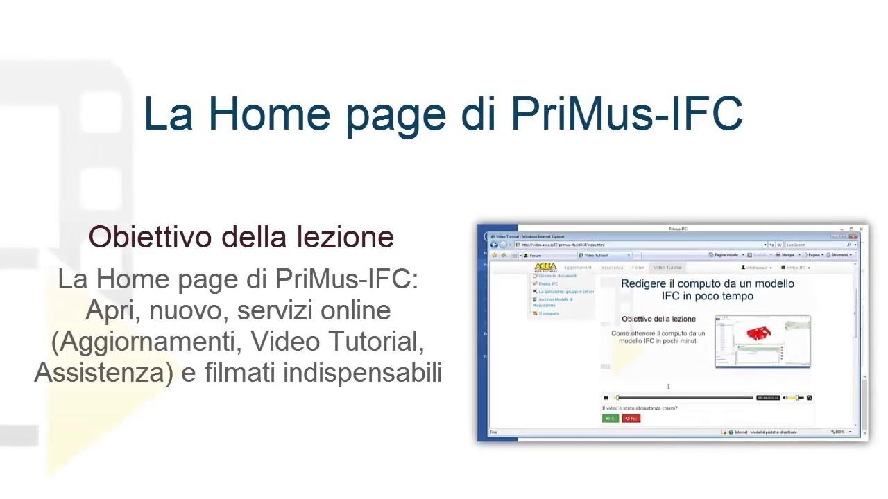 Tutorial Primus Ifc La Home Page Di Primus Ifc Acca Software