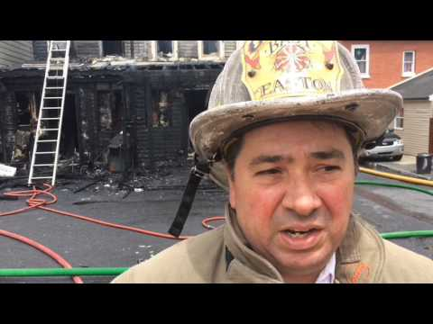 15 displaced as fire rips through several homes in Easton (PHOTOS)