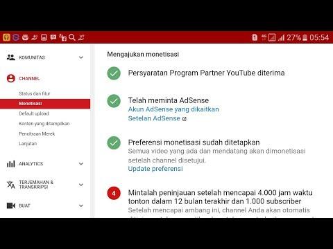 Membuat Akun Google AdSense Serta Peraturan Monetisasi TERBARU