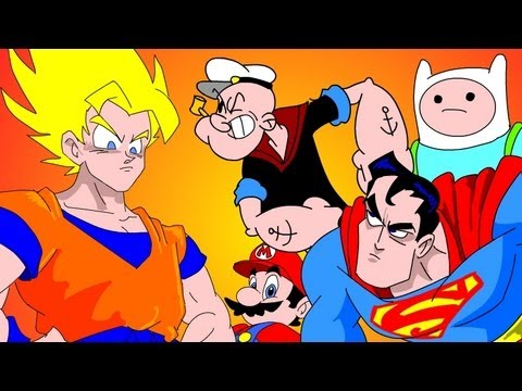GOKU vs EVERYBODY UCF 7.2  SUPERMAN, FINN & JAKE, MARIO & POPEYE
