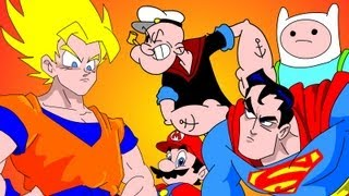 goku vs everybody ucf 7 2 superman finn jake mario popeye