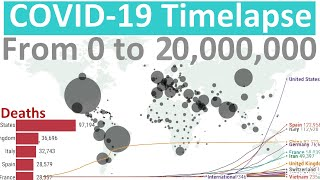 From zero to 20 million cases - Coronavirus (COVID-19) World Timelapse