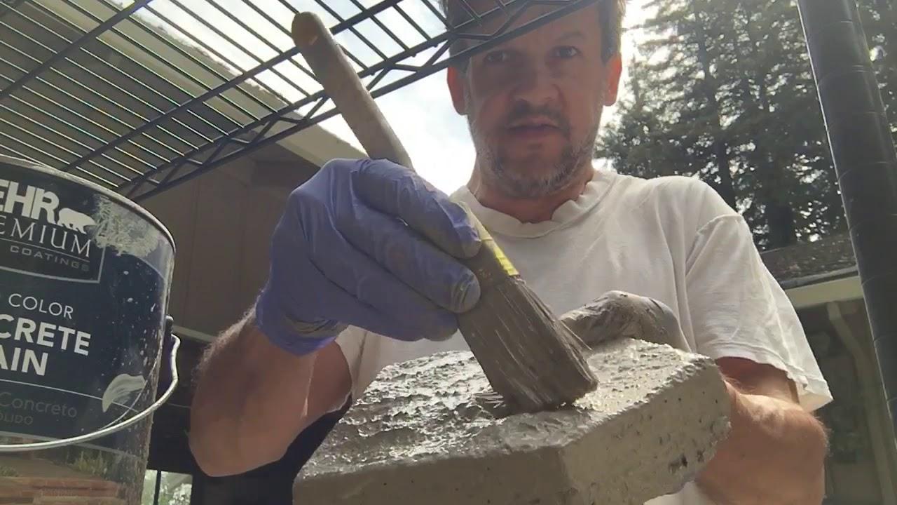 Painting Concrete Pavers.
