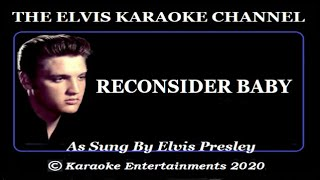 Elvis Is Back Karaoke Versions Reconsider Baby