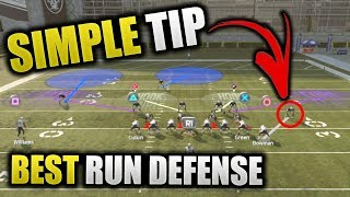 SIMPLE TIP FOR LOCK DOWN RUN DEFENSE | STOP ANY RUN BETTER THAN RUN COMMIT | Madden 19 Tips How To
