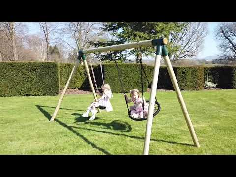 NEW Rebo Wood Garden Swing Sets - Junior Swing Range