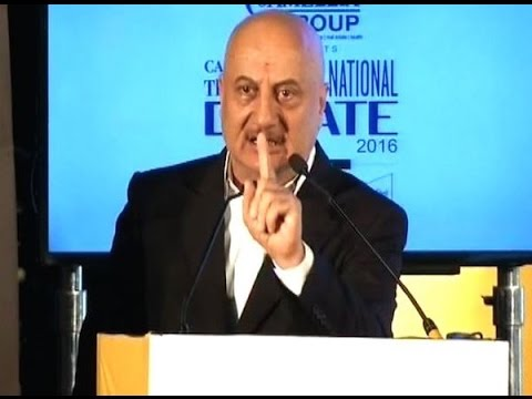 Anupam Kher 's bold and right Telegraph debate speech goes viral