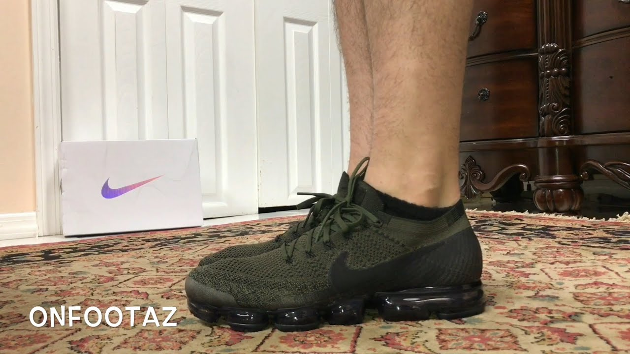 64b071383809f Nike Air VaporMax City Tribes Cargo Khaki Olive On Foot - YouTube