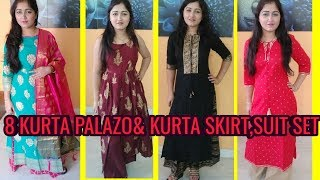 #MYNTRA KURTA PALAZO/KURTA WITH PANT/SUIT SET HAUL/MYNTRA KURTA UNDER 1000 HAUL/MYNTRA KURTI HAUL
