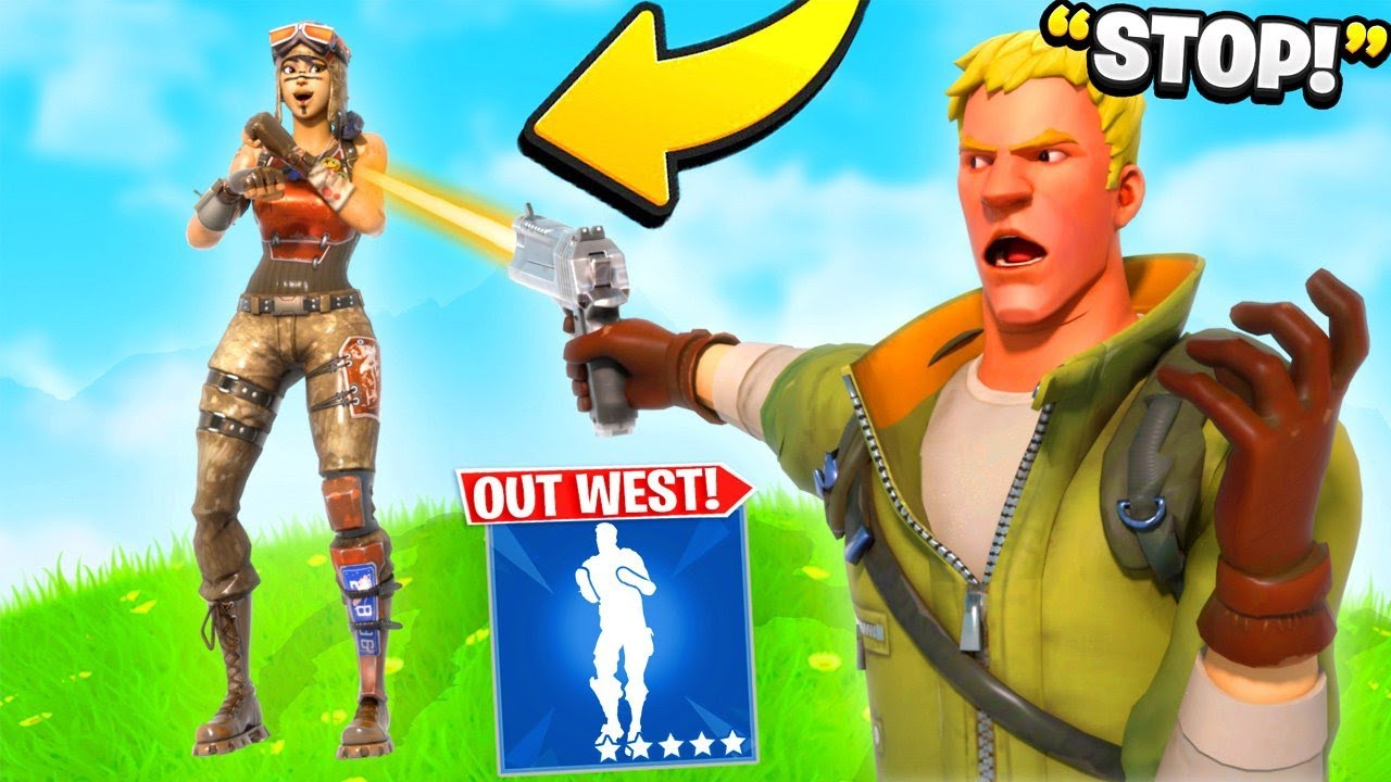 "I Trolled Him With NEW ""Out West"" Emote... (Fortnite)"