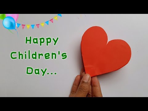 Kid's Crafts on Children's Day occassion || Children's Day kid's Projects