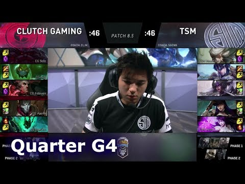 TSM vs Clutch Gaming | Game 4 Quarter Finals S8 NA LCS Spring 2018 | TSM vs CG G4