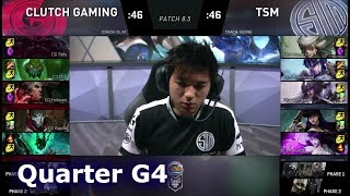 TSM vs Clutch Gaming | Game 4 Quarter Finals S8 NA LCS Spring 2018 | TSM vs CG G4
