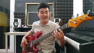 Samba latin guitar bass lesson, học đàn guitar bass online [Eng Sub]