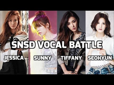 SNSD Vocal Battle: Jessica vs Sunny vs Tiffany vs Seohyun ~ 소녀시대 고음배틀: 제시카  vs 써니 vs 티파니 vs 서현