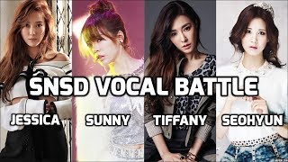 SNSD Vocal Battle: Jessica vs Sunny vs Tiffany vs Seohyun ~ 소녀시대 고음배틀: 제시카  vs 써니 vs 티파니 vs 서현 - Stafaband