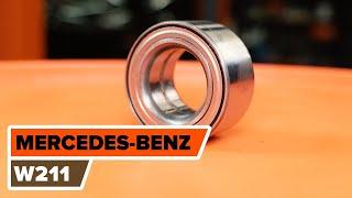 MERCEDES-BENZ E-CLASS Pyöränlaakerisarja vaihto: ohjekirja