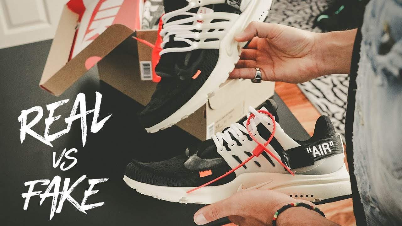 Creo que estoy enfermo Apropiado Similar  NIKE OFF WHITE PRESTO REAL VS FAKE - YouTube