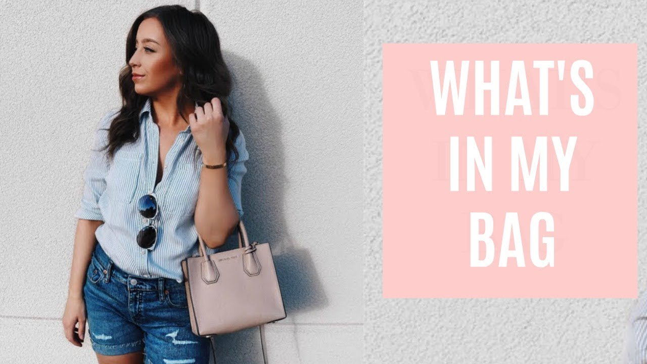 a9f46bc12e27 What s In My Michael Kors Mercer Bag + Review - YouTube