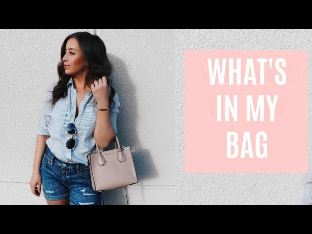 What's In My Michael Kors Mercer Bag + Review