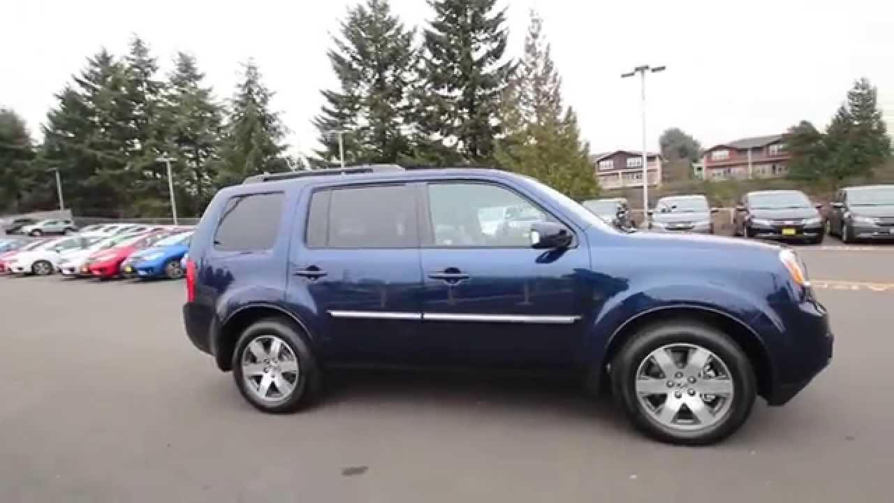 Honda Of Seattle >> 2015 Honda Pilot Touring | Obsidian Blue | FB035771 | Seattle | Renton - YouTube