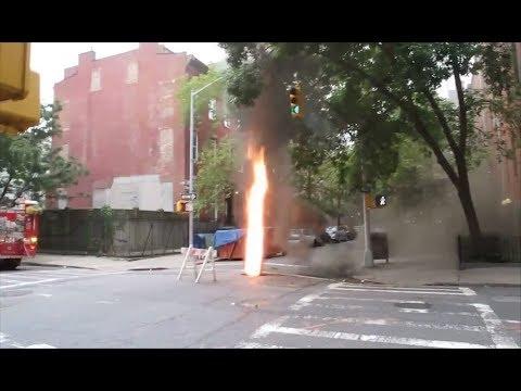 Manhole Explosion Compilation