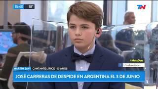 Martín Savi, cantante lirico a los 13 años