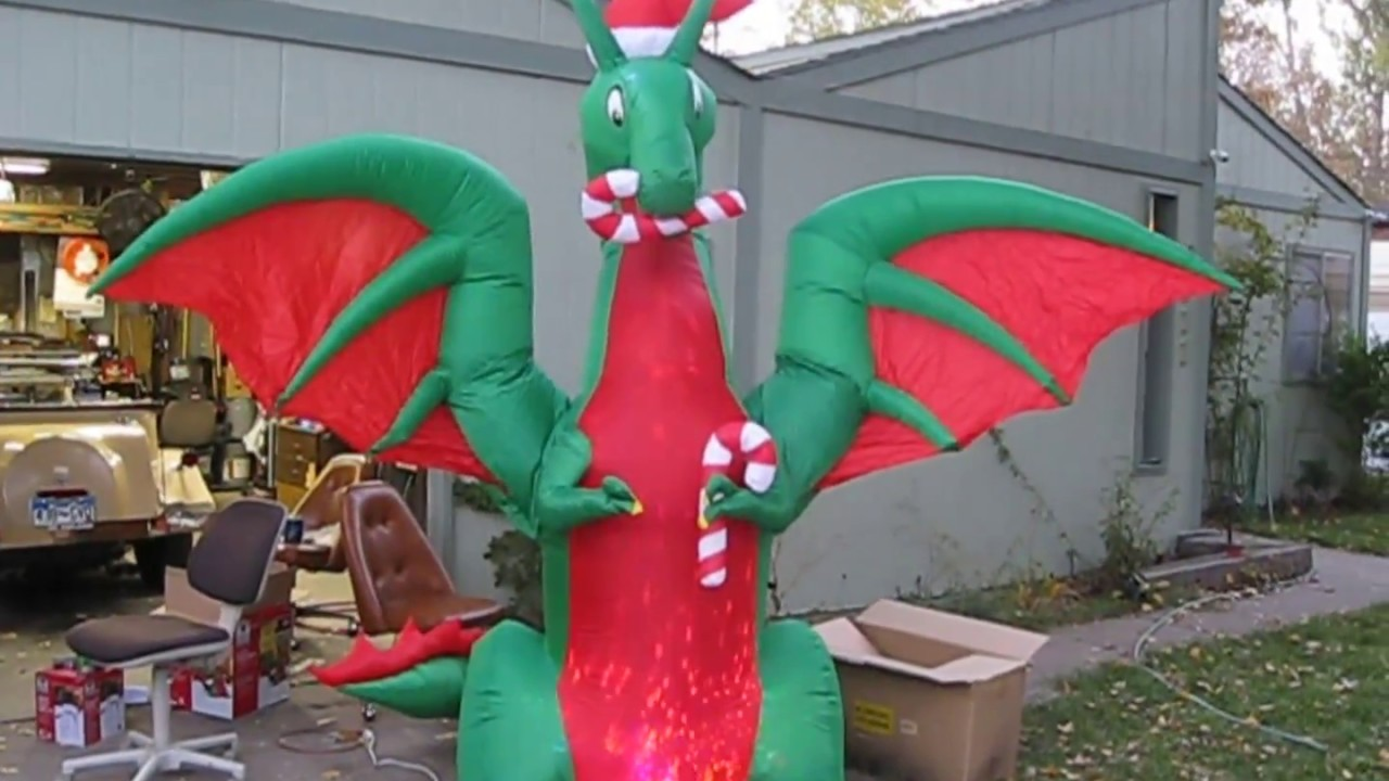 Home Depot 12 Ft Holiday Dragon - YouTube