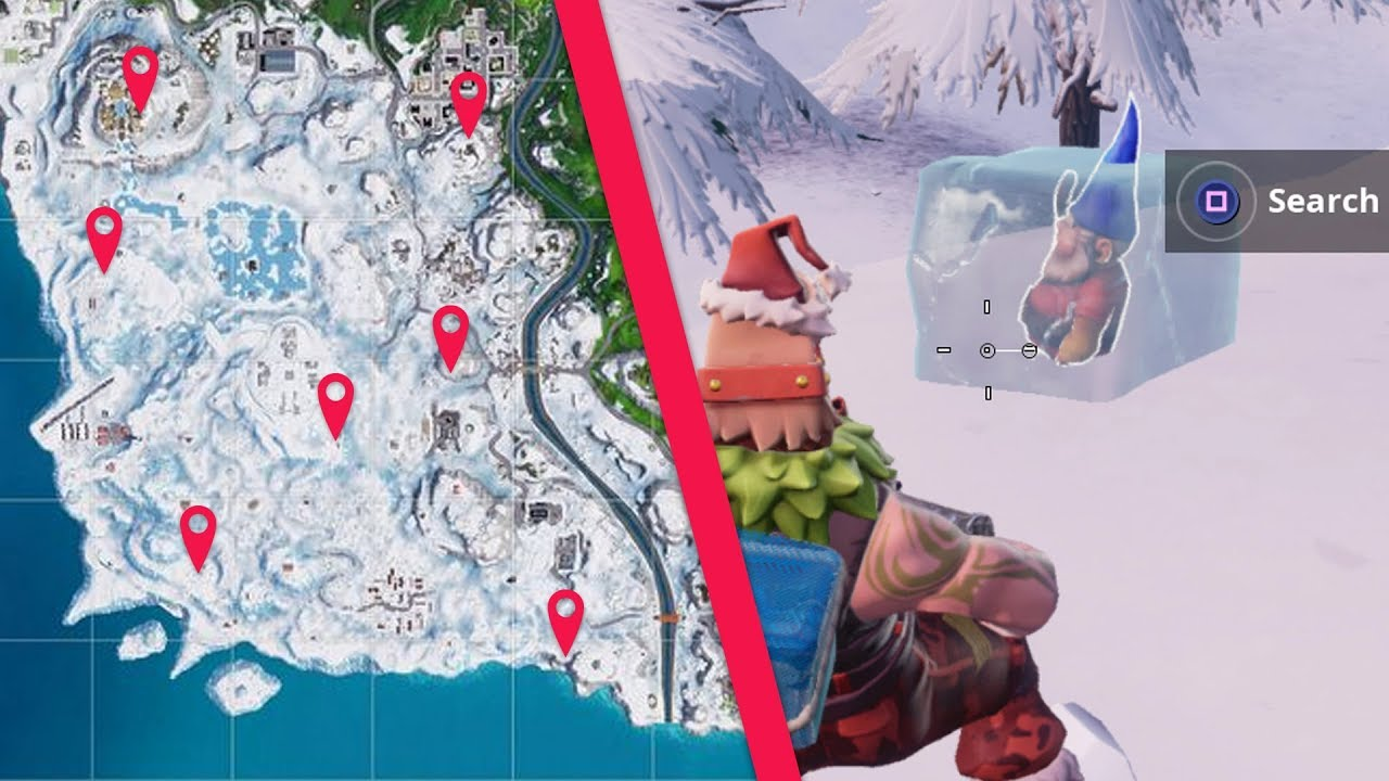 Search Chilly Gnomes With Map Week 6 Fortnite Season 7 Challenges