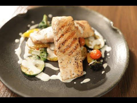 Grilled Salmon With White Butter Sanjeev Kapoor Khazana
