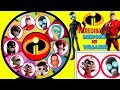 INCREDIBLES 2 Heroes VS Villains Spinning Wheel Game Toy Surprises