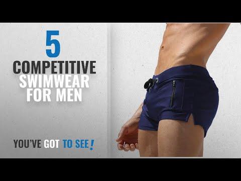 Top 10 Competitive Swimwear For Men [2018]: TONLEN Mens Swimwear Short Swim Trunks With Zipper
