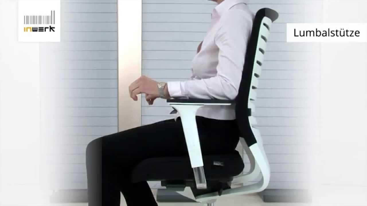Bürostuhl ergonomisch einstellen  Bürostuhl richtig einstellen - Inwerk Ergonomie Berater - YouTube