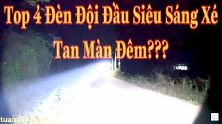 Test Ánh Sáng Thực Tế Ban Đêm Những Mẫu Đèn Đội Đầu Sáng Nhất Shop Tuandentv.com- 085.9195.222