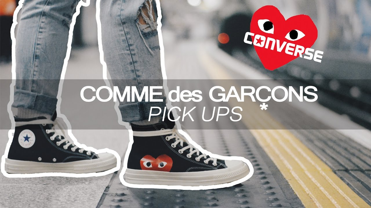 COMME DES GARCONS PLAY - CDG CONVERSE BLACK LOW UNBOXING (Where to .