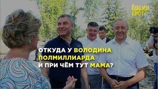 Откуда у Вячеслава Володина 540 млн ₽ на счетах?