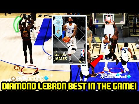 DIAMOND LEBRON JAMES BEST PLAYER IN THE GAME! NBA 2K18 MYTEAM GAMEPLAY thumbnail