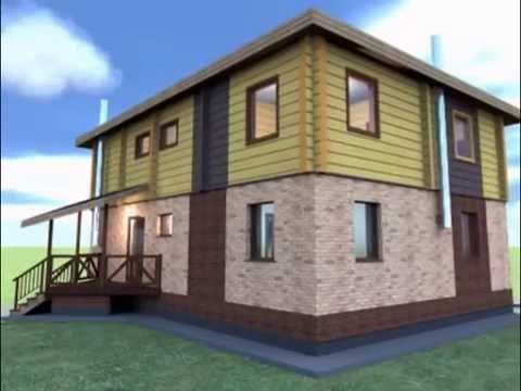 двухэтажный каменно-деревянный дом 9,5*12,5